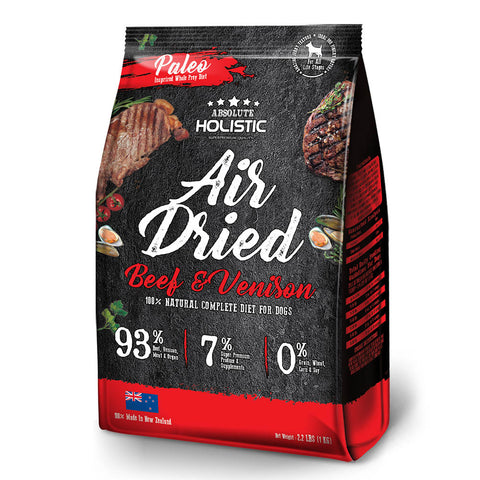 Absolute Holistic Beef And Venison Air Dried Dog Food 1kg