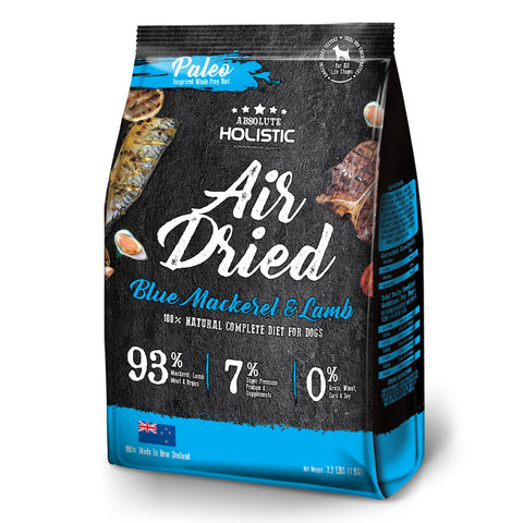 Absolute Holistic Blue Mackerel And Lamb Air Dried Dog Food 1kg
