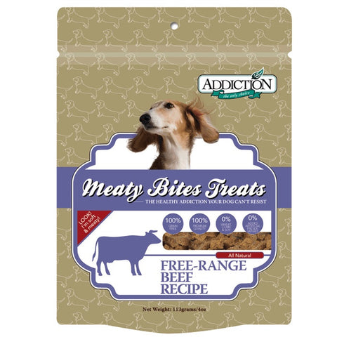 Addiction Beef Meaty Bites - Grain Free | Treats