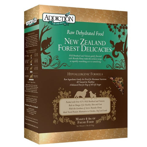 Addiction Raw Dehydrated Dog Food, New Zealand Forest Delicacies | Dehydrated Food