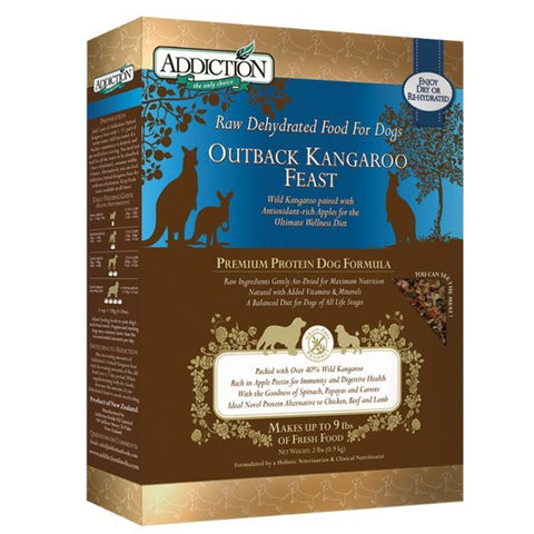 Addiction Raw Dehydrated Dog Food, Outback Kangaroo Feast - Grain Free | Dehydrated Food