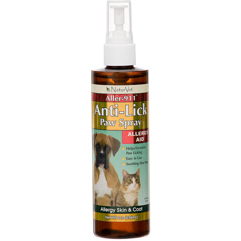 NaturVet Aller 911 Anti-Lick Paw Spray | Canine Supplements