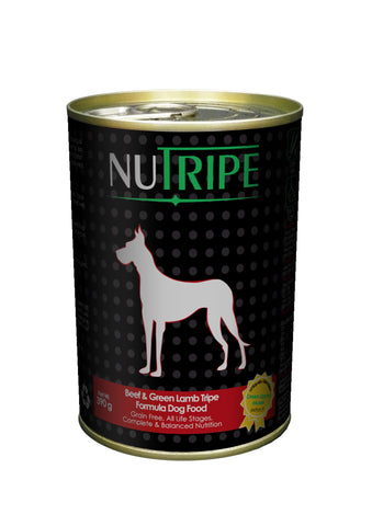 Nutripe Beef With Green Tripe & Added Green Lipped Mussel Extract Dog Food (390g) | Wet Food