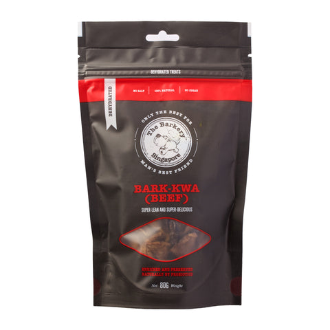 The Barkery Singapore - Bark Kwa Beef Dehydrated Treats (80g) | Treats - 1