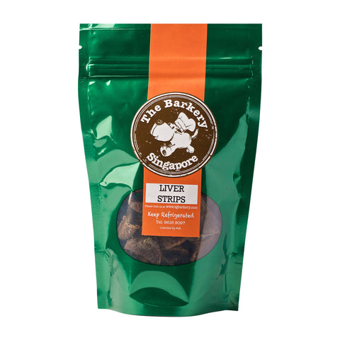 The Barkery Singapore - Beef Liver Strips Dehydrated Treats (80g) | Treats - 1