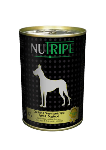 Nutripe Chicken With Green Tripe & Added Green Lipped Mussel Extract Dog Food (390g) | Wet Food