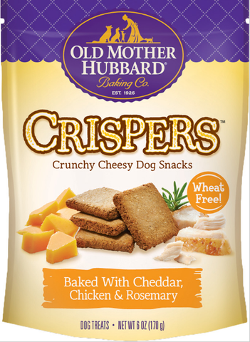 Old Mother Hubbard Crispers Cheddar Chicken & Rosemary 6oz | Treats