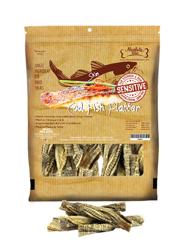 Absolute Bites - Air Dried Cod Fish Platter (400g) | Treats