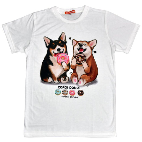 Corgis Donut Delight  Unisex Graphic T-shirt