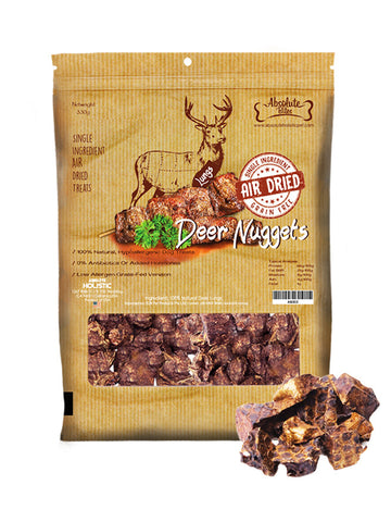 Absolute Bites - Air Dried Grain Free Deer Nuggets (220g) | Treats