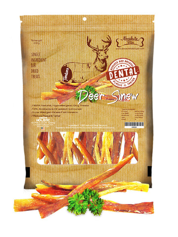 Absolute Bites - Air Dried Deer Sinew (330g) | Treats