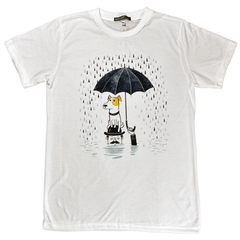 Dog First, Rain Later Unisex Graphic T-shirt