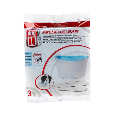 Hagen Dogit - Design Fresh & Clear Fountain 6L Foam/Carbon Filters | Accessories