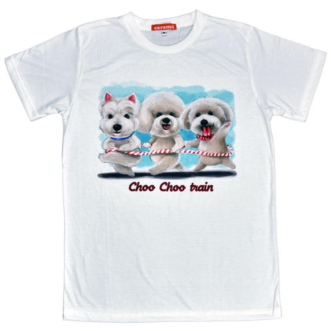 Dog Choo Choo Train Unisex Graphic T-shirt