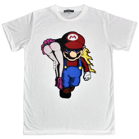 Mario Kidnaps Princess Peach Unisex Graphic T-shirt