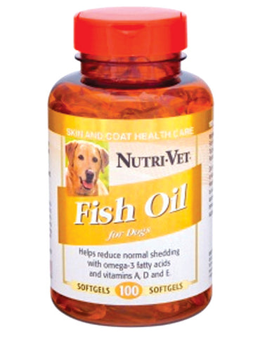 NutriVet Fish Oil Soft Gels | Canine Supplements