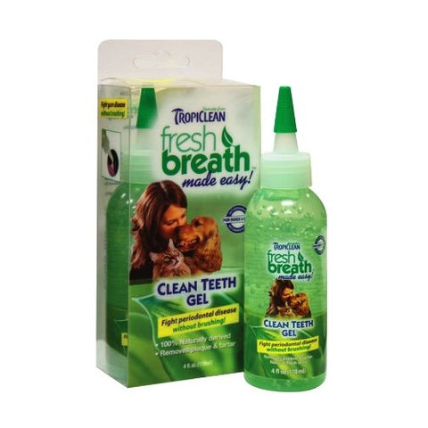 Tropiclean - Fresh Breath Clean Teeth Gel (4oz) | Grooming