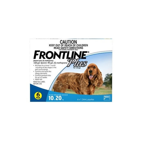Frontline Plus for Medium Dogs 10 - 20kg | Grooming