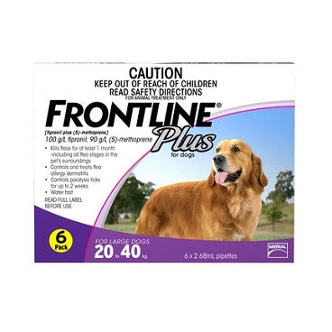 Frontline Plus for Large Dogs 20 - 40kg | Grooming
