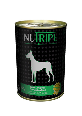 Nutripe Green Tripe & Added Green Lipped Mussel Extract Dog Food (390g) | Wet Food