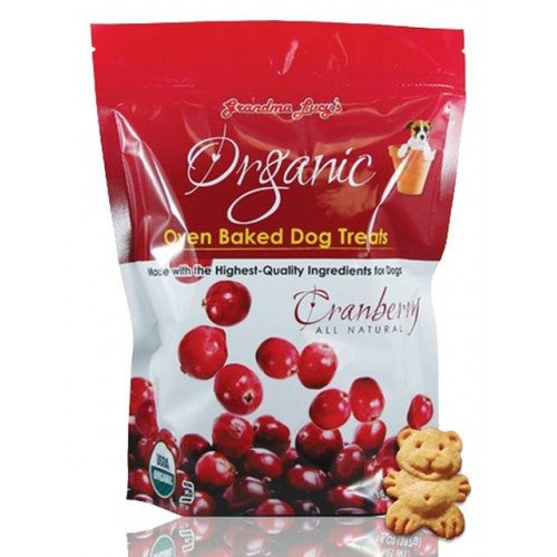 Grandma Lucy's Organic Oven Baked Cranberry Biscuits   Treats