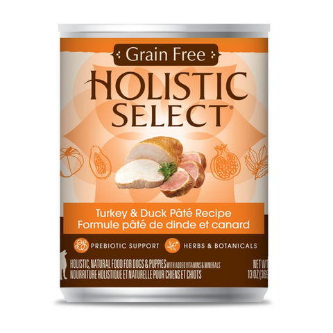 Holistic Select Grain Free Turkey And Duck Pate Canned Dog Food | Wet Food