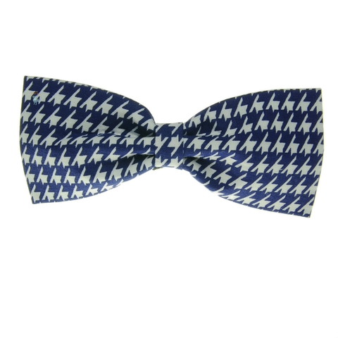 Handmade For Pets - Houndstooth Bowtie (Navy Blue) | Fashion