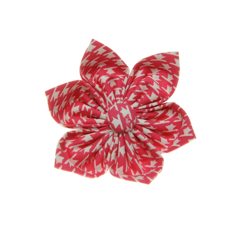 Handmade For Pets - Houndstooth Flowers (Pink) | Fashion