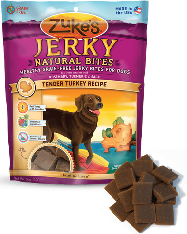 Zuke's: Healthy Grain-Free Jerky Bites (Turkey) 6oz | Treats