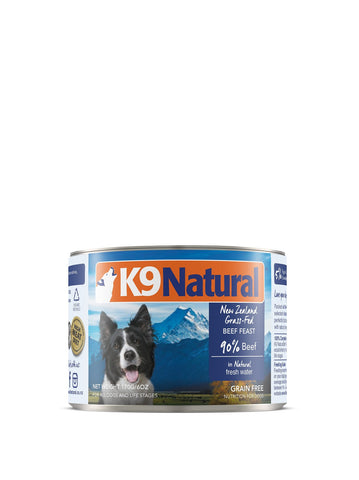 K9 Natural Beef Can Dog Food (170g) | Wet Food