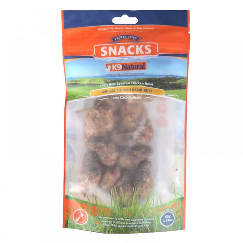 K9 Natural Freeze-Dried Chicken Hearts Bites (60g) | Treats