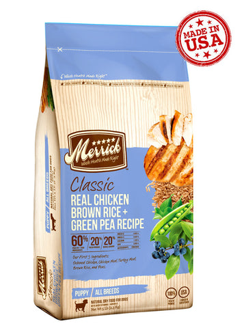 Merrick Classic Deboned Chicken, Brown Rice & Green Pea for Puppy 5lbs | Dog Dry Food