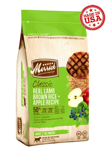 Merrick Classic Deboned Lamb, Brown Rice & Apple | Dog Dry Food