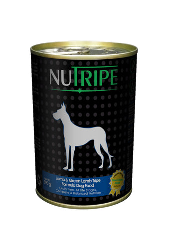 Nutripe Lamb With Green Lamb Tripe & Added Green Lipped Mussel Extract Dog Food (390g) | Wet Food