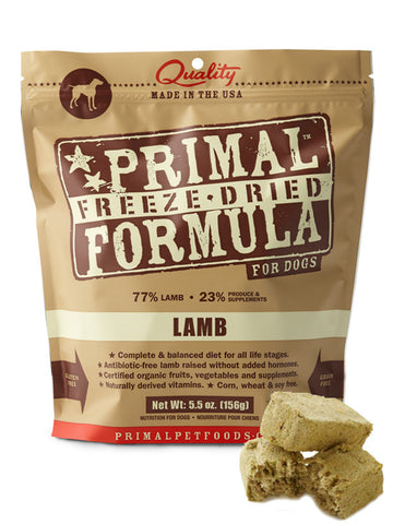 Primal Canine Lamb Formula (Freeze Dried) | Freeze Dried Food - 1