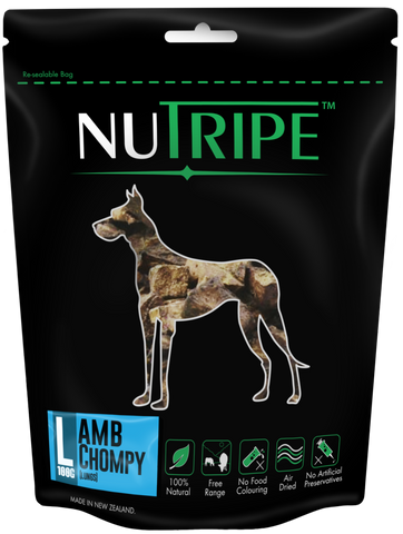 Nutripe Lamb Chompy (Lung) 100g | Treats