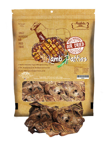 Absolute Bites - Air Dried Grain Free Lamb Patties (350g) | Treats
