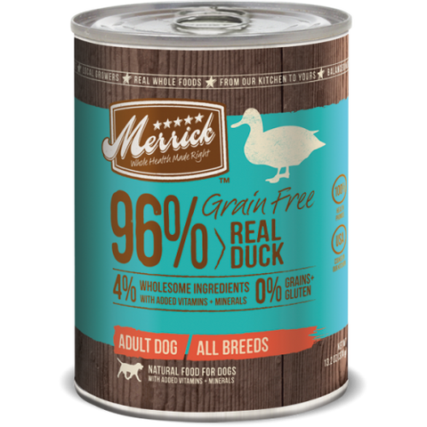 Merrick 96% Grainfree Real Duck Recipe 374g | Wet Food