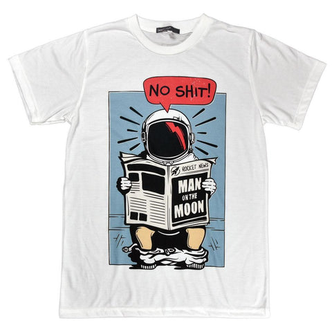No Shit, Man on the Moon Unisex Graphic T-shirt