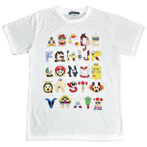 Super Mario Bros ABC Unisex Graphic T-shirt