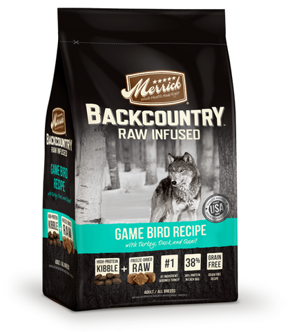 Merrick Backcountry - Raw Infused Grain Free Game Bird (22lbs) | Dog Dry Food