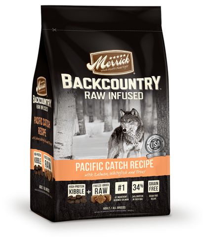 Merrick Backcountry - Raw Infused Grain Free Pacific Catch (22lbs) | Dog Dry Food