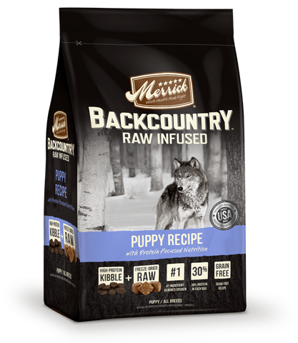 Merrick Backcountry - Raw Infused Grain Free Puppy Recipe (12lbs) | Dog Dry Food