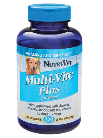NutriVet Multi-Vite Plus Chewables | Canine Supplements