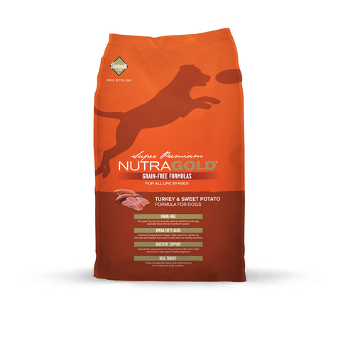 Nutragold Grain Free Turkey & Sweet Potato Dry Dog Food | Dog Dry Food