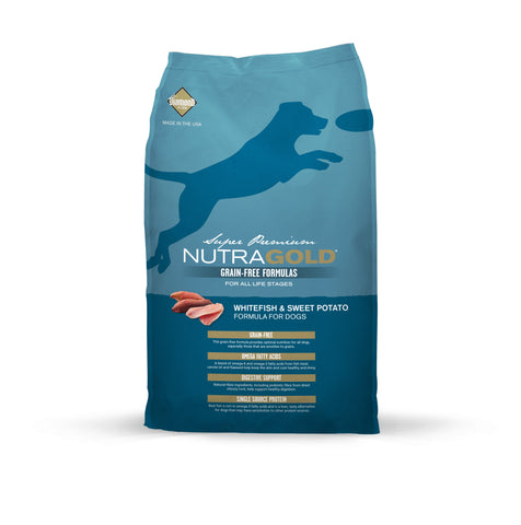 Nutragold Grain Free Whitefish & Sweet Potato Dry Dog Food | Dog Dry Food