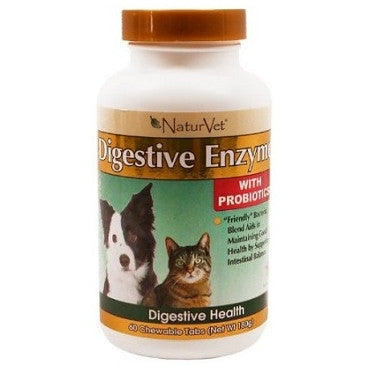 NaturVet Digestive Enzymes with Pro-Biotics | Canine Supplements