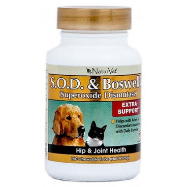 NaturVet S.O.D & Boswellia Tablets | Canine Supplements