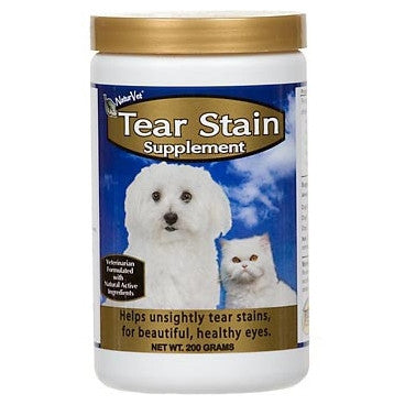 NaturVet Tear Stain Supplement Powder | Canine Supplements