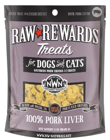 Northwest Naturals - Freeze Dried Treats Pork Liver (3oz) | Treats